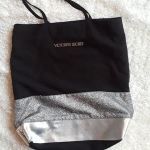 Victoria's secret black silver glittler sparkling